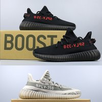 Wholesale Yellow Oxford Shoes - 2017 Sply 350 V2 shoes outlets Y boost V2 350 oxford triple white Zebra Kanye west sneakers Running Shoes Kanye West Boost