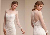 xale de vestido branco venda por atacado-Sheer casamento capes simples xale para vestidos de noiva querida elegante manga longa jaquetas de renda de noiva branco acessórios de casamento applique