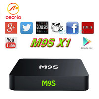 Nuovo prodotto smart tv box M9S X1 TV BOX S905X quad core 1GRAM / 8GROM wifi TV BOX 4K * 2K Android6.0 pieno lettore multimediale Android caricato