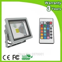 Wholesale Changing Outdoor Light Bulbs - Wholesale- 3 Years Warranty Remote Color Change Spotlight Bulb 20W 10W LED Floodlight RGB LED Flood Light