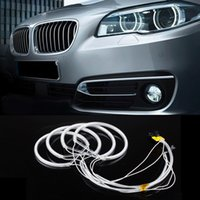 Wholesale Ccfl For Cars - New Car CCFL LED angel eye headlights LED chip car light super brightness white 6000K auto headlight for BMW E46 E36 E39