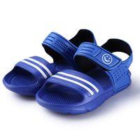 Wholesale children slip resistant shoes online - Hot Sale Summer Children Sandals Slip Resistant Wear Resistant Small Boy Casual Sandals Kid Girl Boy Baby Shoes Children Summer Sandals