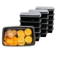 Wholesale Disposable Lunch - 150pcs lot American Style Disposable Food Storage Containers Safe Healthy Food Storage Box Microwave Convenient Lunch Box