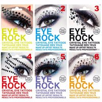 Wholesale Rhinestone Eye Stickers - Temporary Eyeshadow Flash Tattoo Stickers Eye Rock 3D DIY Sexo Rhinestone Tatuajes Body Art Halloween Fashoin Make Up ZA2085