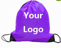 Wholesale Multi Advertising - 210D Customize Drawstring Tote bags Logo print Advertising Backpack folding bags Marketing Promotion Gift shopping bags Screenprinting