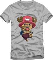 Wholesale Childrens Animal T Shirts - FREE SHIPPING! fashion kids t shirt japanese anime one piece tony tony chopper print Childrens Tshirts 11 design optional 100% cotton