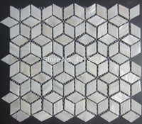 Wholesale Rhombus Shell Mosaic Tiles Naural pure white Mother of Pearl Tiles kitchen backsplash bathroom wall flooring tiles