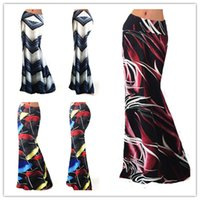 Wholesale Womens Elegant Skirts - Fashion Womens Summer Elegant Vintage print package hip High Waist Casual Party Beach Fitted Long Skirt