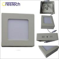 düz ışık led paneller toptan satış-Düz ışık Yüksek lümen 6W 12W 18W 23W İnce panel yüzeye monte Kapalı Kare Yuvarlak şekil LED panel ışığı