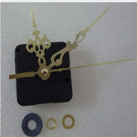 Wholesale bell clocks - Gold and Red Diy Best Quartz Clock Mechanism Bell Core Shaft Length 12MM Clock Accessories Set