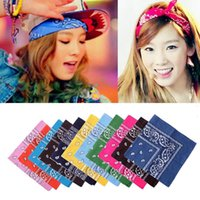 Wholesale Unisex Popular Cotton cm Paisley Bandanas Double Sided Headwrap Head Wrap Scarf Wristband