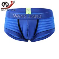 Wholesale 2017 Men Sexy Mesh Transparent Diamond Boxer Underwear Shorts Exotic Boxers Wangjiang Calzoncillos Hombre Mens Underwear Rhinestone