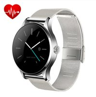 Auricolare Bluetooth Smart Watch Waterpfoof Smartwatch telecamera remota per Android iOS Steel Band orologi da polso sport 2.5D Arc Screen K88H