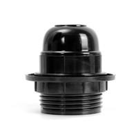 portalámparas negro colgante al por mayor-Venta caliente E27 Tornillo Socket Lámpara de la bombilla Holder Pendant Socket Lamp Base Black