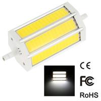 Wholesale R7s 78 - Wholesale- AC85-265V Non-dimmable Brightness 10W 15W 20W R7S COB LED Bulb 78 118 189mm Corn Lamp Light Floodlight 270degree Illumination