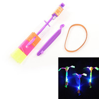 Wholesale Arrow Power - Shining Rocket Flash Copter Arrow Helicopter Neon Led Light Amazing Elastic Powered LED Arrow Helicopter 1 Pcs