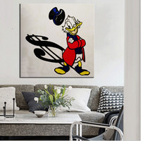 Wholesale Best Wall Picture Frame - Best street Alec monopoly Graffiti art paint canvas for wall art decoration oil painting wall painting picture No framed