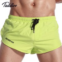 Wholesale Cargo Mens Wholesale - Wholesale-Mens Sport Shorts Running Brand Pouch Gay Wear Man Mens Shorts Surfing Fitness Cargo Workout Bodybuilding Boxers Trunks