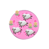 Wholesale Liquid Silicone Mold Wholesale - Sheep and flower shape Fondant Cake Mould Food Grade Liquid Silicone Mold Cake Decoration Baking Tool Kitchecn Accessories