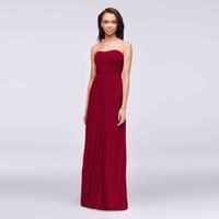 Wholesale Strapless Crinkle Chiffon Dress - Strapless Ruched Bodice Crinkle Chiffon Bridesmaid Dress F15782 Floor Length Wedding Party Dress Evening Dress Formal Dresses