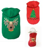 Wholesale Dog Hooded Shirt - small dog Christmas clothes pet hooded clothes fleece apparel costume cute dog Pumpkin Cosplay Pet Party clothing for dog Cardigan PD033