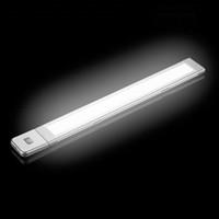 los cm los cm los cm sensor de movimiento del cuerpo del ir luz de la barra de tira del led fija la lmpara de la noche del gabinete dcv del