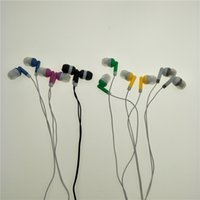Wholesale Low Cost Wholesale Gifts - In Ear Earphones Headphones for MP3 MP4 low cost earbuds for Theatre Museum School library hospital Gift 100pcs