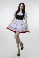 2017 New Hero Alliance LOL Maid Dress Plus Sexy Little Red Riding Hood Cosplay Trajes de Halloween Vestuário de desempenho do clube Hot Selling