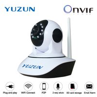 Wholesale android office - 720P P2P WiFi Home security surveillance mini speed dome baby monitor voice intercom cctv camera with night vision
