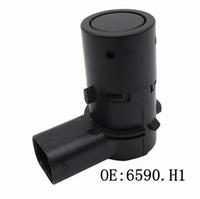ultrasonik park sensörleri toptan satış-1pair Araba Ultrasonik Geri vites Peugeot 207 207CC R için Sensör 6590.H1 PSA6590.H1 PDC Park Sensörü Citroen C4 C5 En İyi Kalite enalt