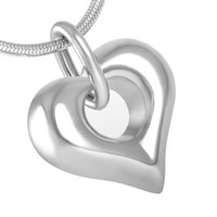 Wholesale Necklace Heart Pendant Hollow - IJD8238 WHOLESALE! Hollow Heart Cremation Pendant Women,Men Classic Design Stainless Steel Cremation Jewelry Ashes Urn Necklace Accessories