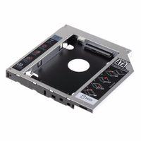 sabit sürücü asus toptan satış-12.7mm SATA HDD SSD Sabit Disk Caddy Asus K53SV VCQ06 P79 Için Optik DVD Bay Adaptörü