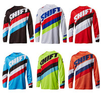 Wholesale Motorcross Cycle - Cycling Eguipment Motorcycle OFF-Road Long Jersey SHIFT The Downhill Motorcross Cycling Coat Summer Long Sleeve Bike Cycling Shirt