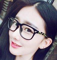 marcas de óculos japoneses venda por atacado-Atacado-maré marca japonesa camuflagem rebite homens transparentes preto full frame óculos planície espelho eyewear mulheres frete grátis