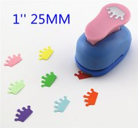 Wholesale Eva Diy Crown - Wholesale- free ship 1'' Crown paper cutter scrapbooking punches paper punch eva foam punch child diy craft punch scrapbook S293714