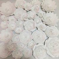 Wholesale Wholesale Showcase Sets - 33PCS Set Giant Paper Flowers For Showcase Wedding Backdrops Props Flores Artificiais Para Decora o Cover Surface 1.2*1.2Meters