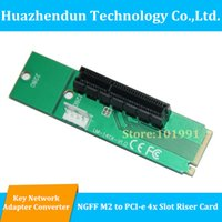 Wholesale Pci Expansion Adapter - Wholesale- 3PCS LOT Free Shipping NGFF M2 to PCI-E 4X Slot Adapter Card M key M.2 port SSD Port to PCI Express Expansion Card