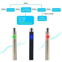 Wholesale Wholesale Used Car Batteries - Ecigs 400mAh L0 Preheat Battery Black SS Colors Operated LED Lighting Portable Battery 510 CBD Cartomizer Used for the Thick Oil thc oil car