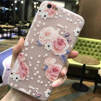 Wholesale I Phone 3d Cover - luxury 3d flower tpu phone back copy,etui,capinha,coque,case,cover for iphone 7 7s for apple iphone7 silicone silicon i