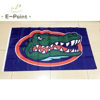ekip bayrakları toptan satış-NCAA Florida Gators Ekibi polyester Bayrak 3ft * 5ft (150 cm * 90 cm) Bayrak Banner dekorasyon uçan ev bahçe açık hediyeler