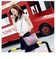 Wholesale Luminous Cross - Brand Luminous Women Bao Bao Bag High-end Geometric Handbags Plaid Shoulder Diamond Lattice BaoBao Ladies Messenger Bags