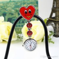 HOT Heart Shape Cartoon Smile Face Enfermeira Watch Clip On Fob Brooch Relógio de bolso pendurado Fobwatch Enfermeira Medical Tunic Watch DHL frete grátis
