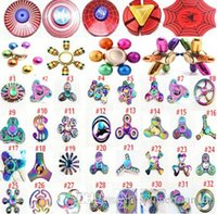 Wholesale Mini Finger Toys - Fidget spinners Rainbow metal Fidget Spinners Hand Spinners Finger EDC Toys Spins Tri-Spinner Spiral Gyro EDC Fidget With Box
