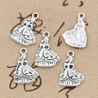 Wholesale Tibetan Bells Necklace - Wholesale-99Cents 8pcs Charms southern bell lady dancer 21*15mm Antique Making pendant fit,Vintage Tibetan Silver,DIY bracelet necklace