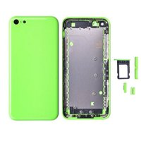 Wholesale iphone 5c housing - 20PCS New Full Housing Back Cover Battery Cover with Side Buttons for iPhone 5c