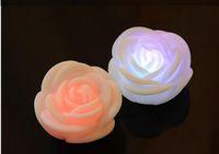 decoracion de velas rosa al por mayor-Luz cambiante del color LED Rose del envío libre, trato de la tapa de la vela del LED para la decoración M108 de la Navidad del día de Navidad