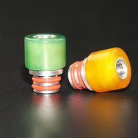 Wholesale pure stones - Colourful Jade Stianless Steel Drip Tip Pure agate stone Drip Tip Fit for RDA Atomizers 510 Mouthpiece 7 Colors DHL Free