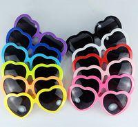Wholesale Cheap Plastic Hearts - 13 Colors Fashion Love Heart Shape Multicolor Sunglasses Plastic Party Glasses Frame UV400 Cheap Sun Glasses