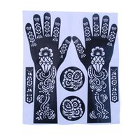 Wholesale New Sale Easy Use India Henna Temporary Tattoo Stencils Flower Design For Hand Leg Arm Feet Body Art Decal cm Set