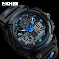 Wholesale Double Chronograph Watch Men - SKMEI Men Sports Watches Digital Double Time Chronograph Watch Watwrproof Week Display Wristwatches Relogio Masculino 1270